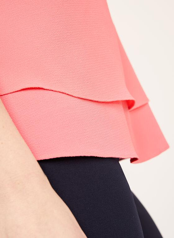 Sleeveless Double Layer Top, Orange, hi-res