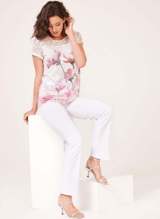 Lace Detail T-Shirt, Multi, hi-res
