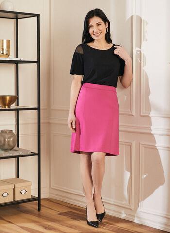 Topstitch Detail Straight skirt, Purple,  skirt, straight, topstitch, lined, spring summer 2020