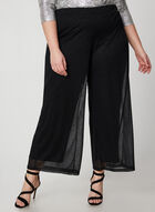 Pantalon coupe moderne brillant, Noir, hi-res