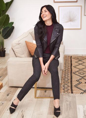 Vex - Faux Suede Jacket, Black,  jacket, suede, leather, zipper, notch collar, fall winter 2020