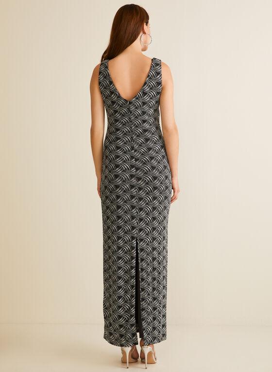 Glitter Knit Column Dress, Black