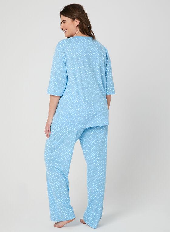 Bellina - Star Print Pyjama Set, Blue