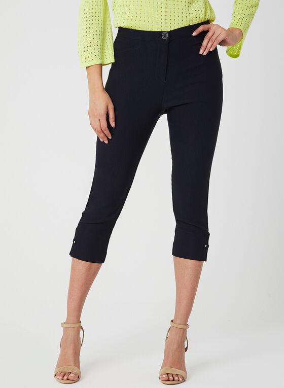 Modern Fit Slim Leg Capris, Blue, hi-res