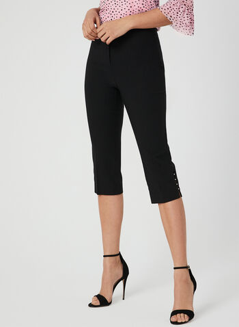 Modern Fit Capri Pants, Black, hi-res,