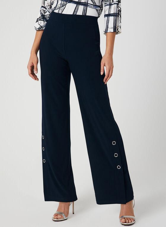 Wide Leg Pull-On Pants, Blue, hi-res