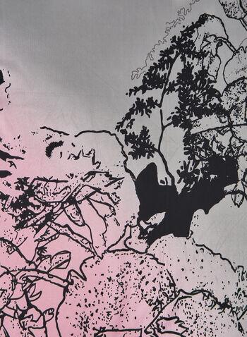 Foulard à imprimé abstrait, Gris, hi-res,  imprimé floral, fleurs, fleuri, motif, motifs, automne hiver 2019