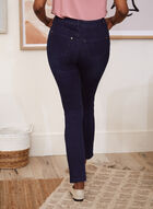 Crystal Detail Slim Leg Jeans, Blue