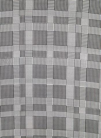 Plaid Print Scarf, Red,  contrast border, square, grid, plaid, fall 2019, winter 2019, neckerchief
