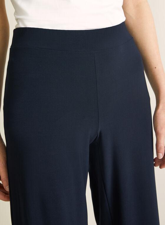 Pantalon pull-on à jambe large, Bleu