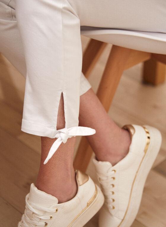 Tie Detail Pants, White