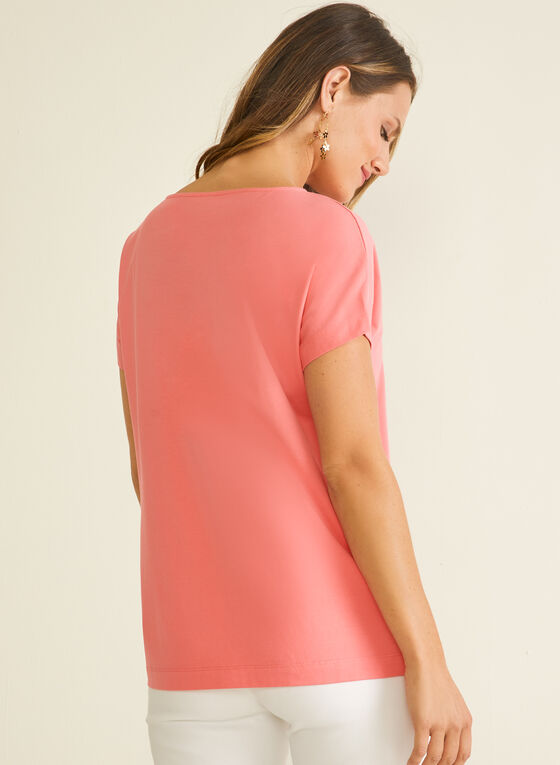 Cotton & Modal T-Shirt, Orange