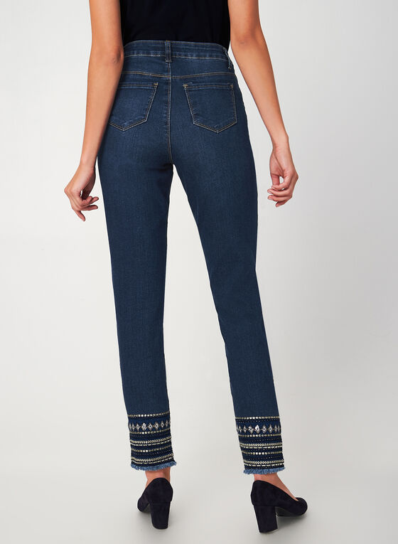 G.G. Jeans - Tribal Slim Leg Jeans, Blue