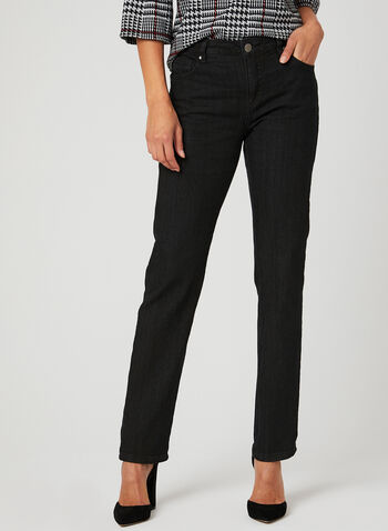 Simon Chang - Straight Leg Jeans , Black, hi-res