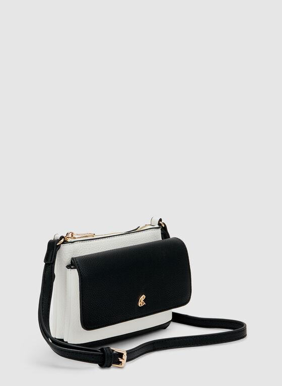 Two Tone Crossbody Bag, Black