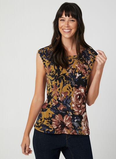 Flower Print Sleeveless Top
