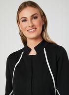 Elena Wang - Cardigan en tricot bicolore, Gris, hi-res