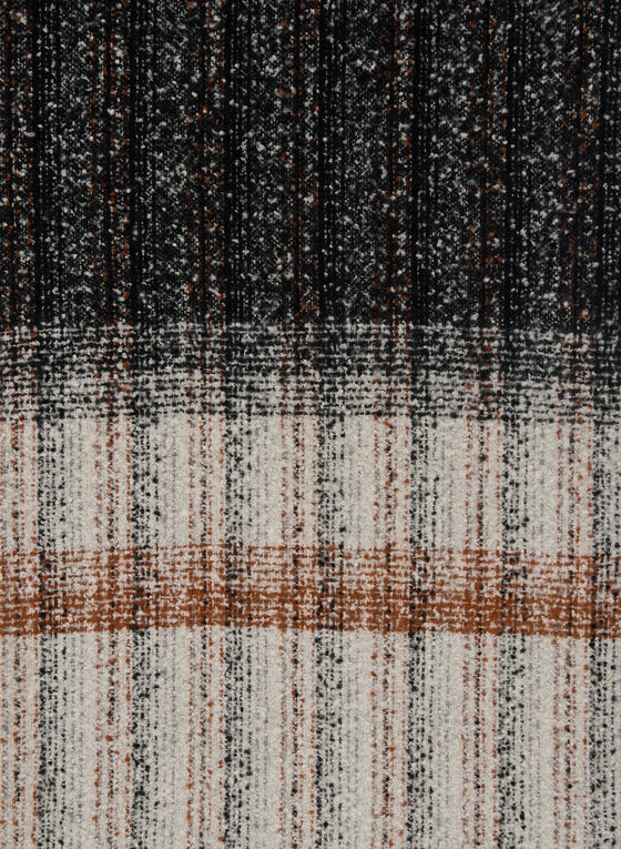 Striped Boucle Scarf, Brown