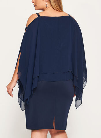 Cold Shoulder Poncho Dress, , hi-res