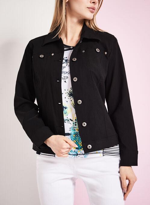 Simon Chang Bengaline Jean Jacket, Black, hi-res