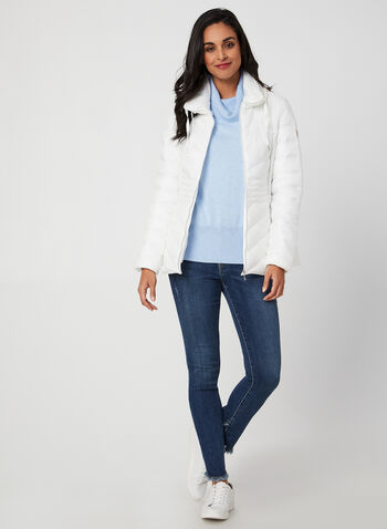 Bernardo - Packable Coat, White,  winter coat, coat, raincoat, transition coat, packable coat, hooded coat, light coat, Bernardo, fall 2019, winter 2019