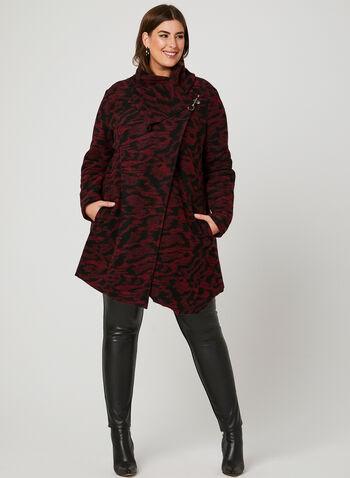 Boiled Wool Coat, Black, hi-res