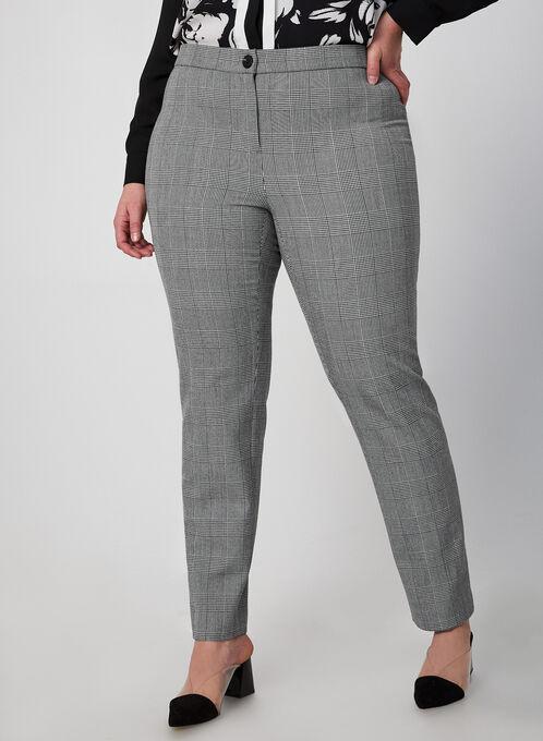 City Fit Printed Pants, Black, hi-res