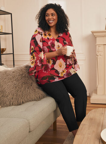 Floral Print Long Sleeve Blouse, Multi,  blouse, top, floral print, floral print blouse, long sleeves, spring tops, spring summer 2021