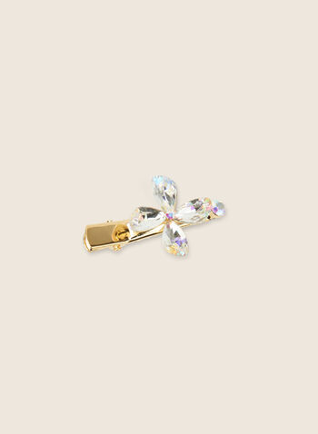 Pince à fleur en cristal, Or,  pinces, accessoires, cheveux, fleur, cristal, printemps été 2020