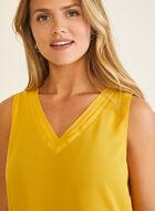 Sleeveless V-Neck Blouse, Yellow