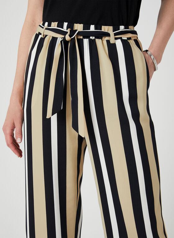Stripe Print Wide Leg Pants, Blue, hi-res