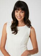 Sleeveless Fit & Flare Dress, White, hi-res