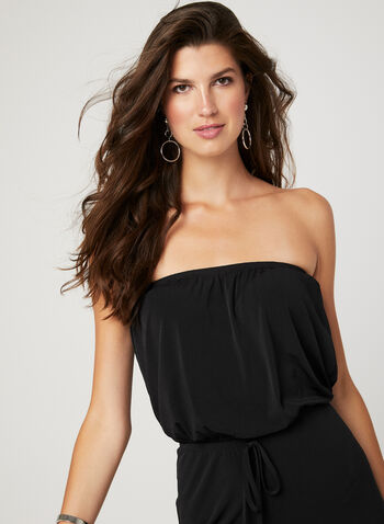 Strapless Wide Leg Jumpsuit, Black, hi-res