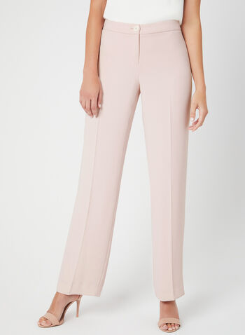 Modern Fit Wide Leg Pants, Pink, hi-res