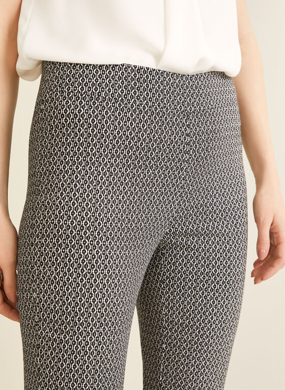 City Fit Contrast Pattern Pants, Black