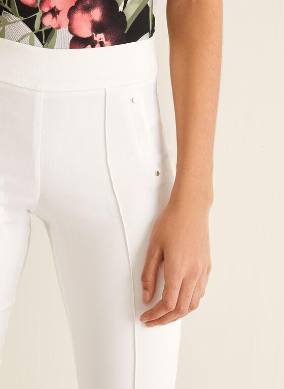 City Fit Slim Leg Pants, White
