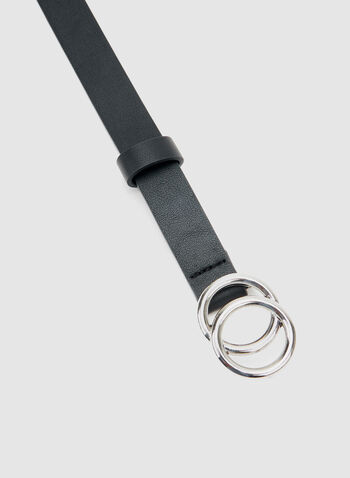 Ring Detail Belt, Black, hi-res