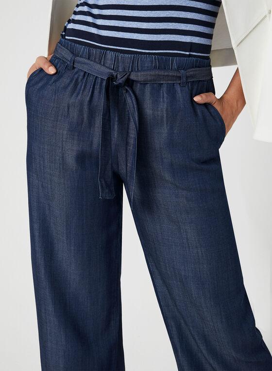 Modern Fit Wide Leg Pants, Blue, hi-res