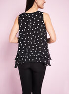 Chiffon Dot Print Blouse , Black, hi-res