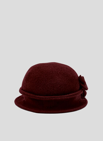 Wool Blend Bell Hat, Red, hi-res