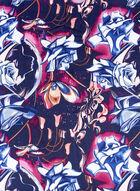 Rose Print Scarf, Black, hi-res