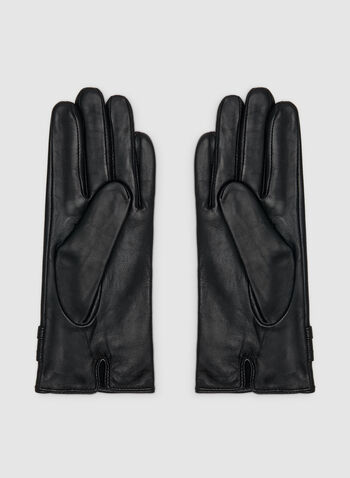 Full Sheep Leather Gloves , Black, hi-res,  gloves, leather gloves, sheep leather, detailed gloves, real leather, fall 2019, winter 2019
