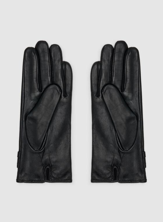 Full Sheep Leather Gloves , Black