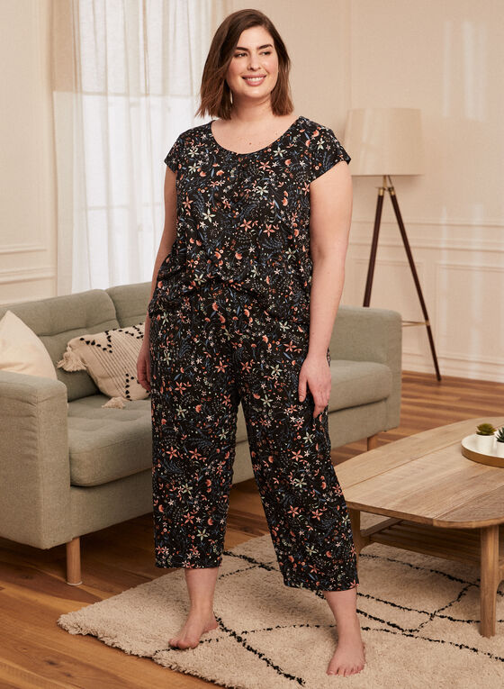 Print Pyjama Set, Black