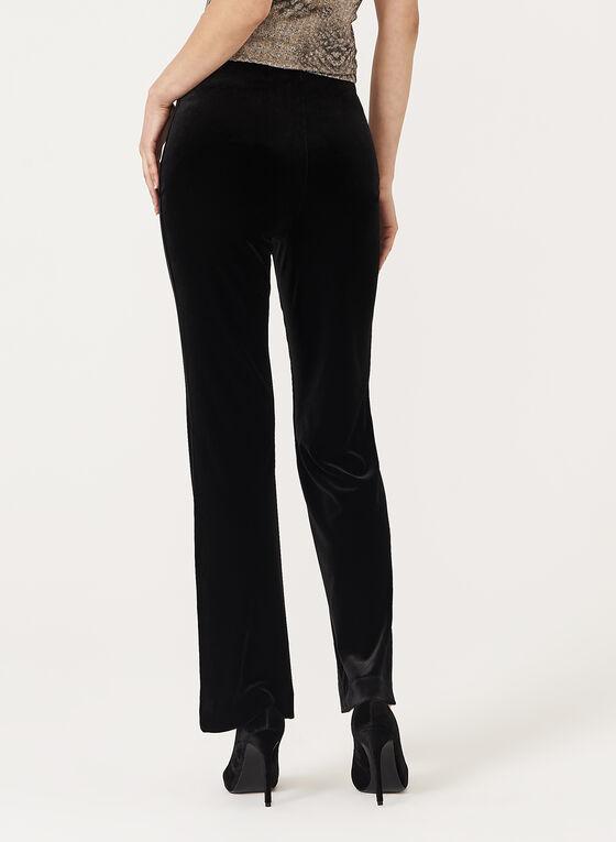 Pantalon en velours à jambe évasée, Noir, hi-res