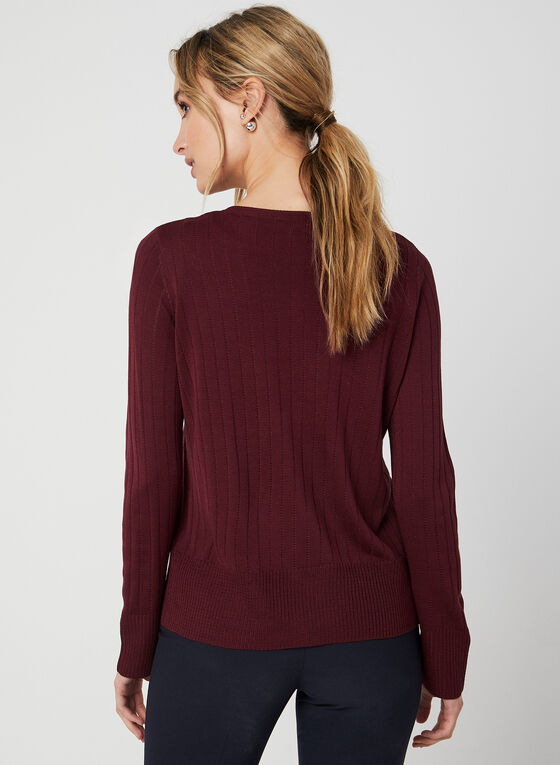 Knit Cardigan, Red, hi-res