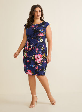 Floral Print Day Dress , Blue,  floral print, sleeveless, dress, day dress, floral print dress, short dress, spring 2020, summer 2020