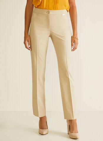 Pantalon coupe moderne à jambe droite, Blanc cassé,  pantalon, moderne, pinces, droit, printemps été 2020