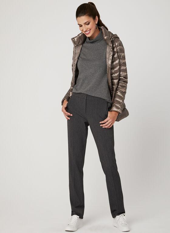 Lightweight Packable Down Coat, Brown, hi-res