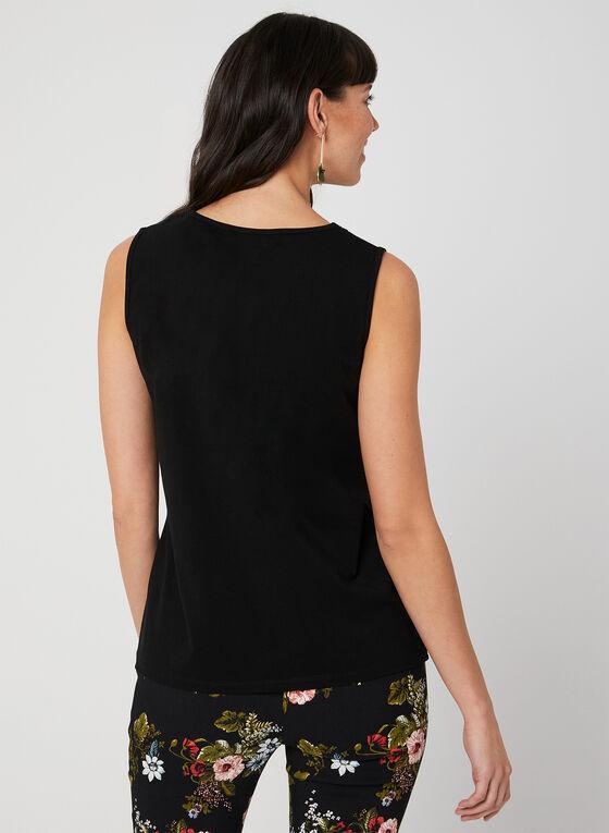 Lace Trim Cami, Black